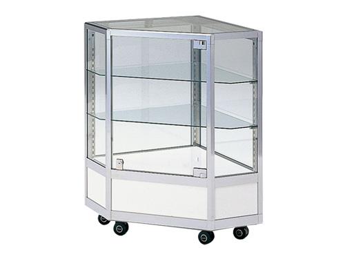 幅狭コーナー用ガラスケース