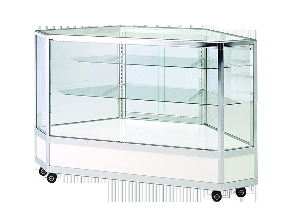 全面ガラスケース 棚板3段 ホワイト