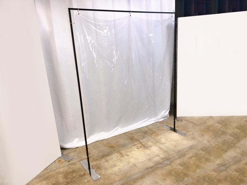 スタンド式飛沫感染防止ビニールフレーム 使用イメージ3