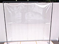 スタンド式飛沫感染防止ビニールフレーム 伸縮タイプ