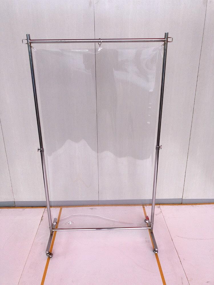 コロナ飛沫防止ビニールスタンドW900
