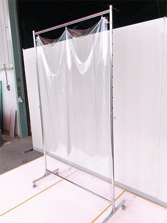 コロナ飛沫防止ビニールスタンドW900 使用イメージ3