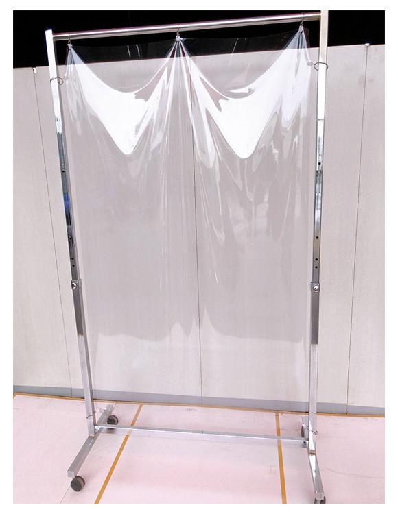 コロナ飛沫防止ビニールスタンドW1200