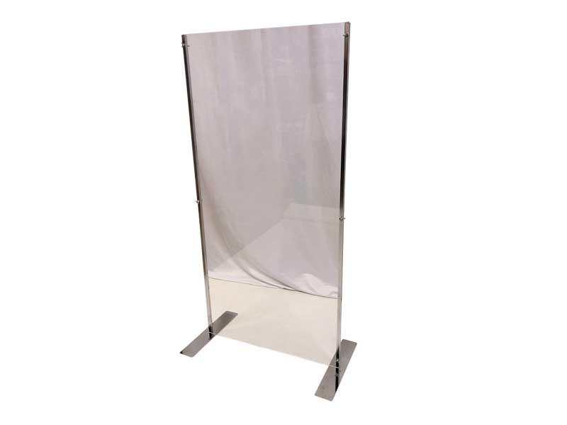 飛沫感染防止用直立型アクリルパネル